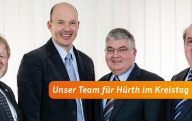 v.l. Otto Winkelhag, Frank Rock, Gerd Fabian und Willi Zylajew