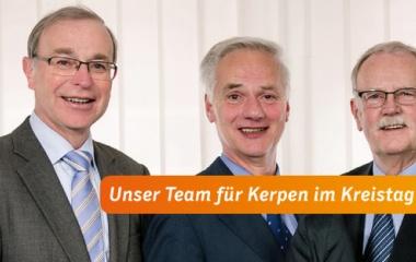 v.l. Bernhard Ripp, Norbert Schorn und Wolfgang Zimball