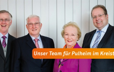 v.l. Karl-Heinz Grebe, Holger Veit, Heidemarie Tschepe und Wolfgang Kromer-von Baerle