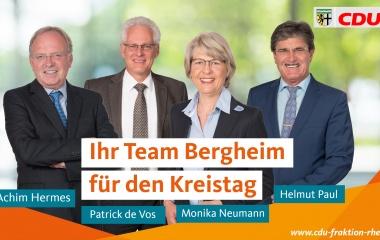 v.l. Achim Hermes, Patrick de Vos, Monika Neumann und Helmut Paul