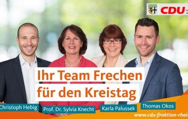 v.l. Jan-Christoph Hebig, Prof. Dr. Sylvia Knecht, Karla Palussek und Thomas Okos