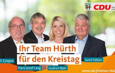 v.l. Willi Zylajew, Hans-Josef Lang, Gudrun Baer und Gerd Fabian