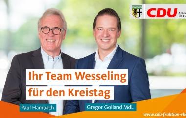v.l. Paul Hambach und Gregor Golland MdL